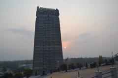 Висок и статуя Murudeshwar Shiva Стоковые Изображения RF