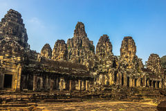 висок Камбоджи bayon стоковое изображение