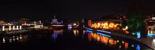 Висок Конфуция рекой Qinghuai Стоковая Фотография RF
