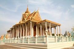 Висок королевского дворца в Пномпень Стоковое Фото