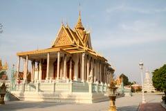 Висок королевского дворца в Пномпень Стоковые Фотографии RF