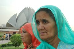 висок лотоса delhi Индии новый Стоковая Фотография RF