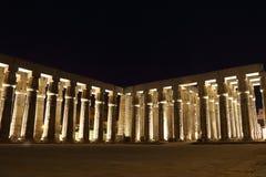 Висок Луксора на ноче Стоковая Фотография