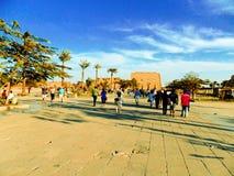 Висок Луксора, Karnak, Египта Стоковая Фотография