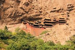 Висок монастыря смертной казни через повешение около Datong, Китая Стоковая Фотография RF