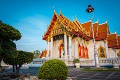 Висок мрамора Wat Benchamabophit в Бангкоке, Таиланде стоковые изображения
