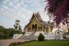 Висок музея королевского дворца на Luang Prabang, Лаосе стоковая фотография rf