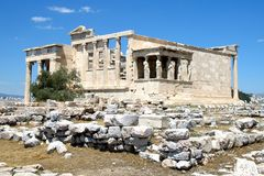 Висок Найк Афины, акрополя Афин, Греции 4 Стоковые Изображения RF
