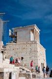 Висок Найк Афины в августе 2013. Афины, Греция. Стоковое Изображение