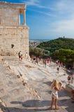 Висок Найк Афины в августе 2013. Афины, Греция. Стоковые Фотографии RF