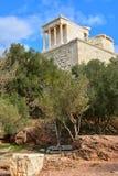 Висок Найк Афины в акрополе, Афинах Стоковые Изображения RF