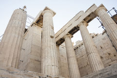 Висок Найк Афины в акрополе Стоковые Фото