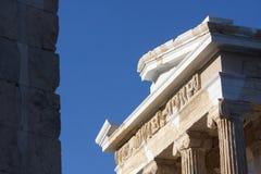 Висок Найк Афины в Афинах Стоковая Фотография