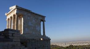 Висок Найк Афины в Греции Стоковая Фотография RF