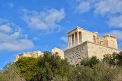 Висок Найк Афины на холме Афин Стоковое Изображение