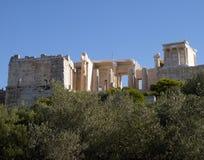 висок Найк Афины athens акрополя Стоковое фото RF