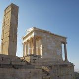 висок Найк Афины athens акрополя Стоковые Изображения RF