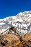 Висок на базовом лагере Annapurna, Непал стоковые изображения