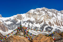 Висок на базовом лагере Annapurna, Непал стоковое изображение rf