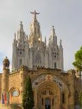 Висок на верхней части Tibidabo горы в Барселона. стоковая фотография rf