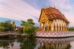 Висок на воде - Таиланд Samui Koh стоковые изображения