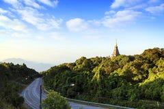 Висок на горе inthanon doi, Чиангмае, Таиланде Стоковое Фото