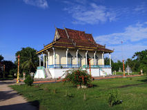Висок на Koh Trong, Камбодже стоковое изображение rf