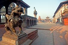 висок Непала bhaktapur durbar квадратный Стоковое Изображение RF