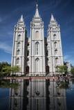 Висок озера сол, большинств важная церковь Мормонов, в Солт-Лейк-Сити, Юта, США Стоковое Изображение