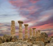 висок остаток heracles древнегреческия стоковые фото