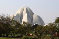 Висок лотоса - главный висок вероисповедания Bahai в Индии Стоковые Фотографии RF