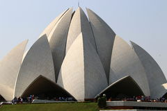 Висок лотоса - главный висок вероисповедания Bahai в Индии Стоковые Изображения RF