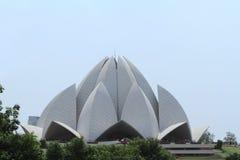Висок лотоса Дели Индии Стоковое Изображение RF