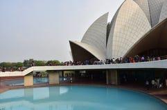 Висок лотоса, расположенный в Нью-Дели, Индия, дом поклонению Bahai построенный в 1986 Знаменитость для своей flowerlike формы Стоковое Фото