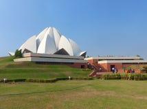 висок лотоса delhi Индии новый Стоковые Изображения