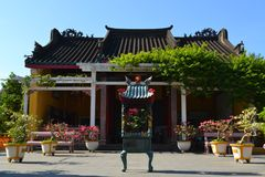Висок пагоды китайского стиля буддийский в Hoi Стоковые Изображения