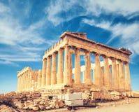 Висок Парфенона, акрополь в Афинах, Греции стоковое изображение rf