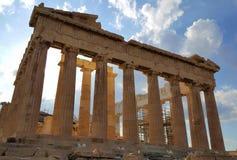 Висок Парфенона, акрополь, Афины, Греция Стоковое фото RF