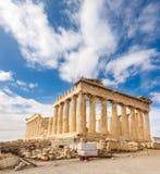 Висок Парфенона, акрополь в Афинах, Греции стоковые фото