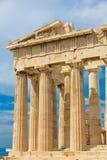 Висок Парфенона в акрополе, Афинах, Греции Стоковые Фотографии RF