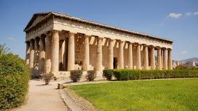 Висок Парфенона на акрополе Athen Стоковое фото RF