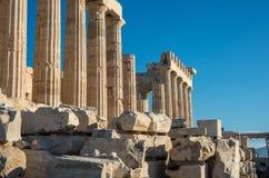 Висок Парфенона на яркий день детали Акрополь в Афинах, Стоковое фото RF