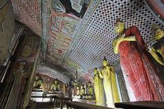 Висок пещеры Dambulla - всемирное наследие ЮНЕСКО Шри-Ланки Стоковое фото RF