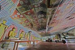 Висок пещеры Dambulla - всемирное наследие ЮНЕСКО Шри-Ланки Стоковое Изображение