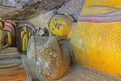 Висок пещеры Dambulla - всемирное наследие ЮНЕСКО Шри-Ланки Стоковая Фотография RF