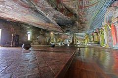 Висок пещеры Dambulla - всемирное наследие ЮНЕСКО Шри-Ланки Стоковые Изображения RF