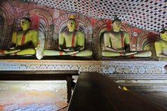 Висок пещеры Dambulla - всемирное наследие ЮНЕСКО Шри-Ланки Стоковые Фотографии RF