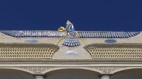 Символ Zoroastrianism на виске пожара. Yazd, Иран Стоковое фото RF