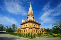 Висок Пхукет Wat Chalong, Таиланд Стоковое Изображение