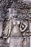 висок сброса bayon bas apsara angkor Стоковое фото RF